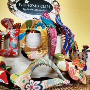 Beautiful and sturdy.   Enjoy pulling your hair up with these lovely clips covered with Kimono frabric.